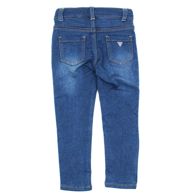 GUESS KIDSWEAR Little Girl Skinny Stretch Jeans Back