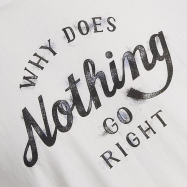 "JACK & JONES Smoky Short Sleeve T-Shirt ""Nothing Goes Right"" Graphic"