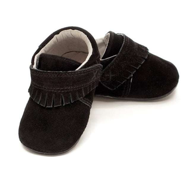 Jack & Lilly Toddler Shoes Black Suede Moccasin