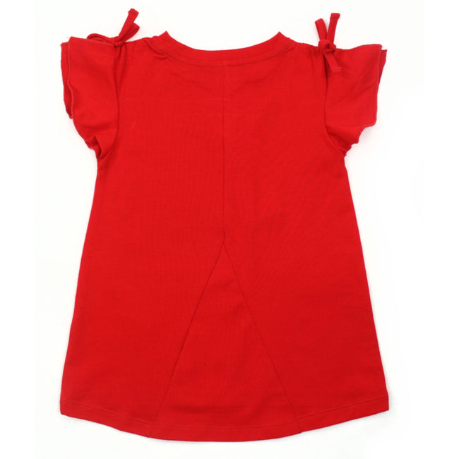 MID Baby Girl Red Tunic Top Back