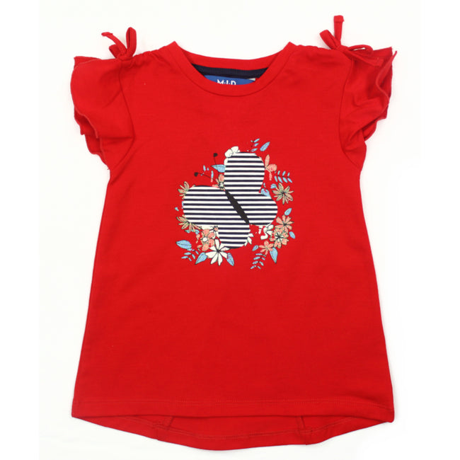 MID Baby Girl Red Tunic Top Front