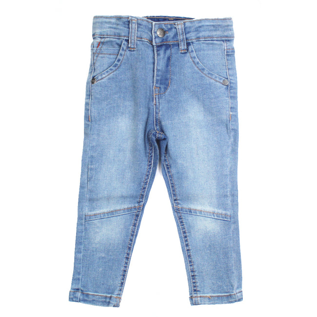 mid baby girl denim jeans front