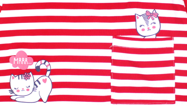 mid baby girl red tunic top kitty graphics