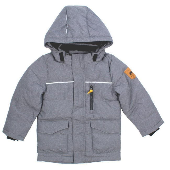 NAME IT Baby and Little Boys Down Filled Grey Winter Coat