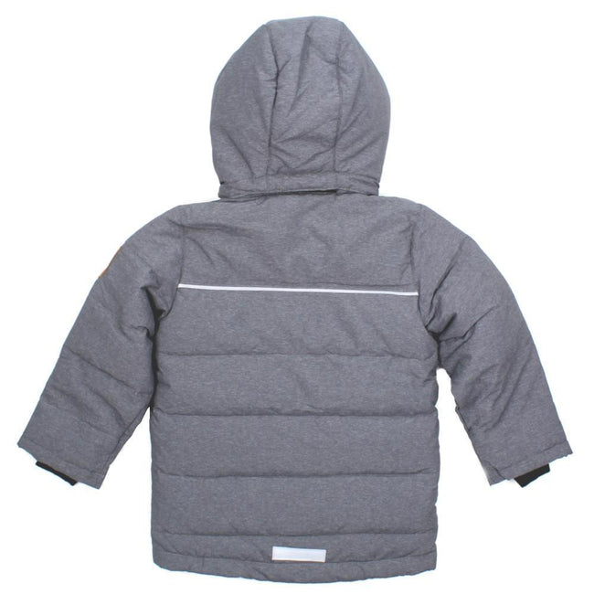 NAME IT Baby and Little Boys Down Filled Grey Winter Coat Back