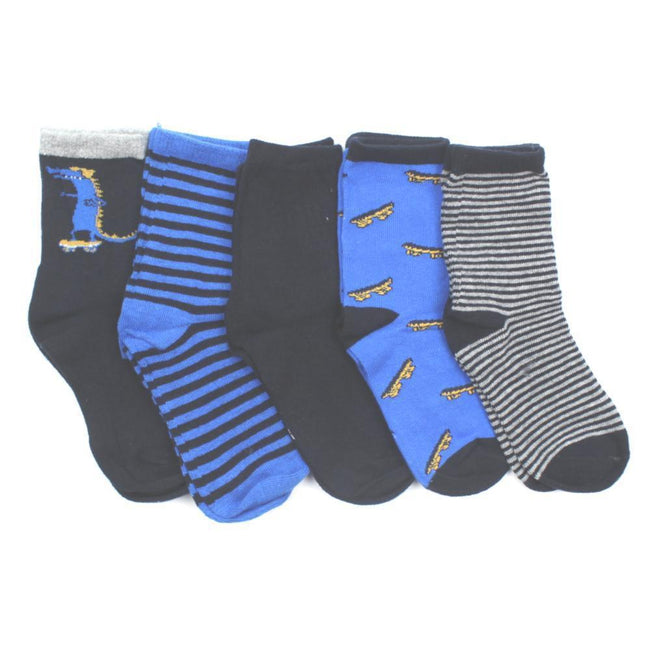 NAME IT Baby and Little Boys Navy Combo Socks (5 per pack)