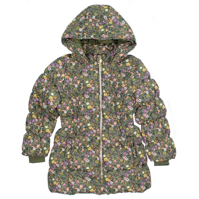 NAME IT Floral Baby and Little Girls Downed Filled Winter Jacket