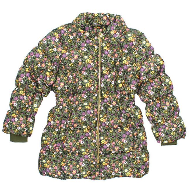 NAME IT Floral Baby and Little Girls Downed Filled Winter Jacket No Hood