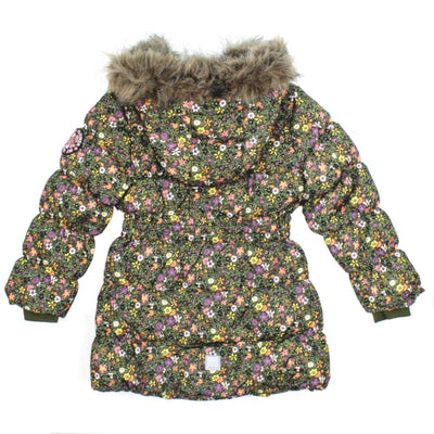 NAME IT Floral Baby and Little Girls Downed Filled Winter Jacket Back