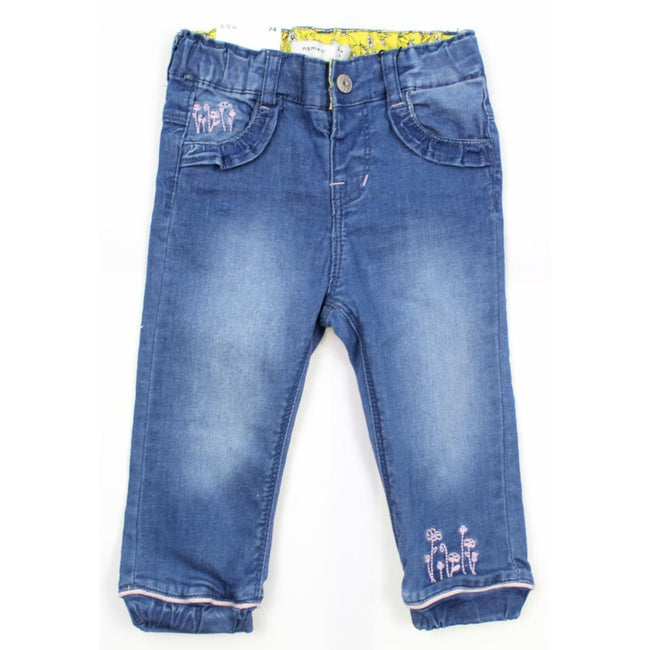 Name It Baby Girl Organic Cotton Denim Jeans