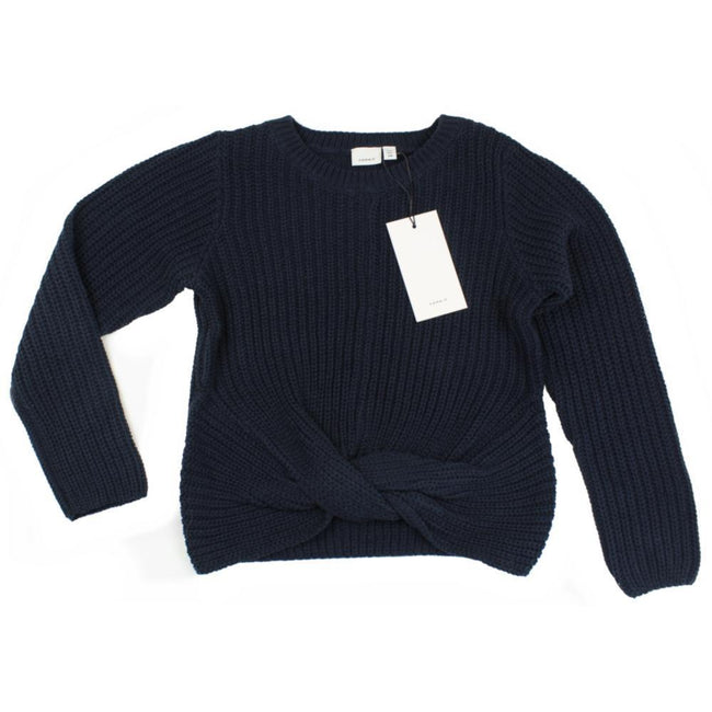 Name It Tween Teen Front Knot Navy Sweater