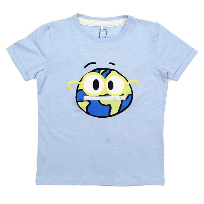 "NAME IT ""EMOJI"" Little Boy Organic Cotton Short Sleeve T-Shirt"