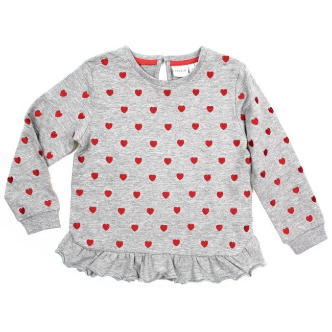 Name It Little Girl Organic Cotton Long Sleeve Grey Sweater