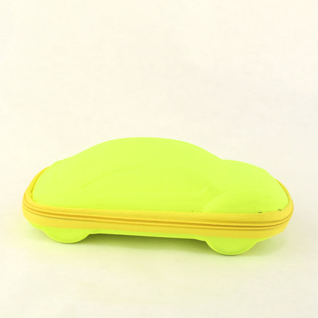 Neon Yellow Zipper Glasses  Car Case