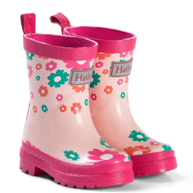 Hatley Kids Little Girl Scattered Flowers Rubber Rain Boot