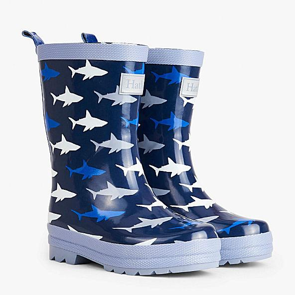 Hatley Kids Little Boys Shark Frenzy Rubber Rain Boot