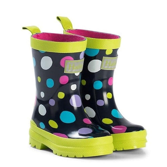 Hatley Kids Little Girls Sunny Dots Rubber Rain Boot