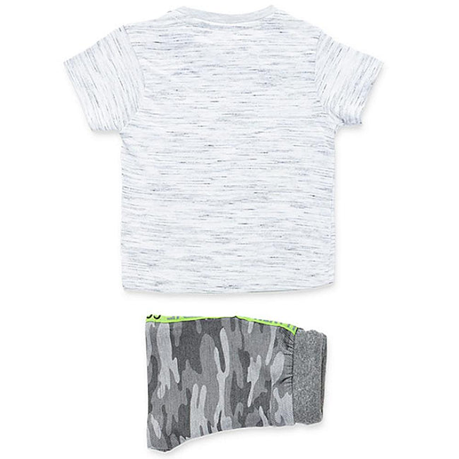 Losan Baby Boy Camo Shorts Grey Tee Shirt