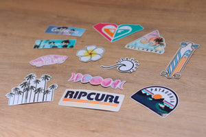 Beach day stickers