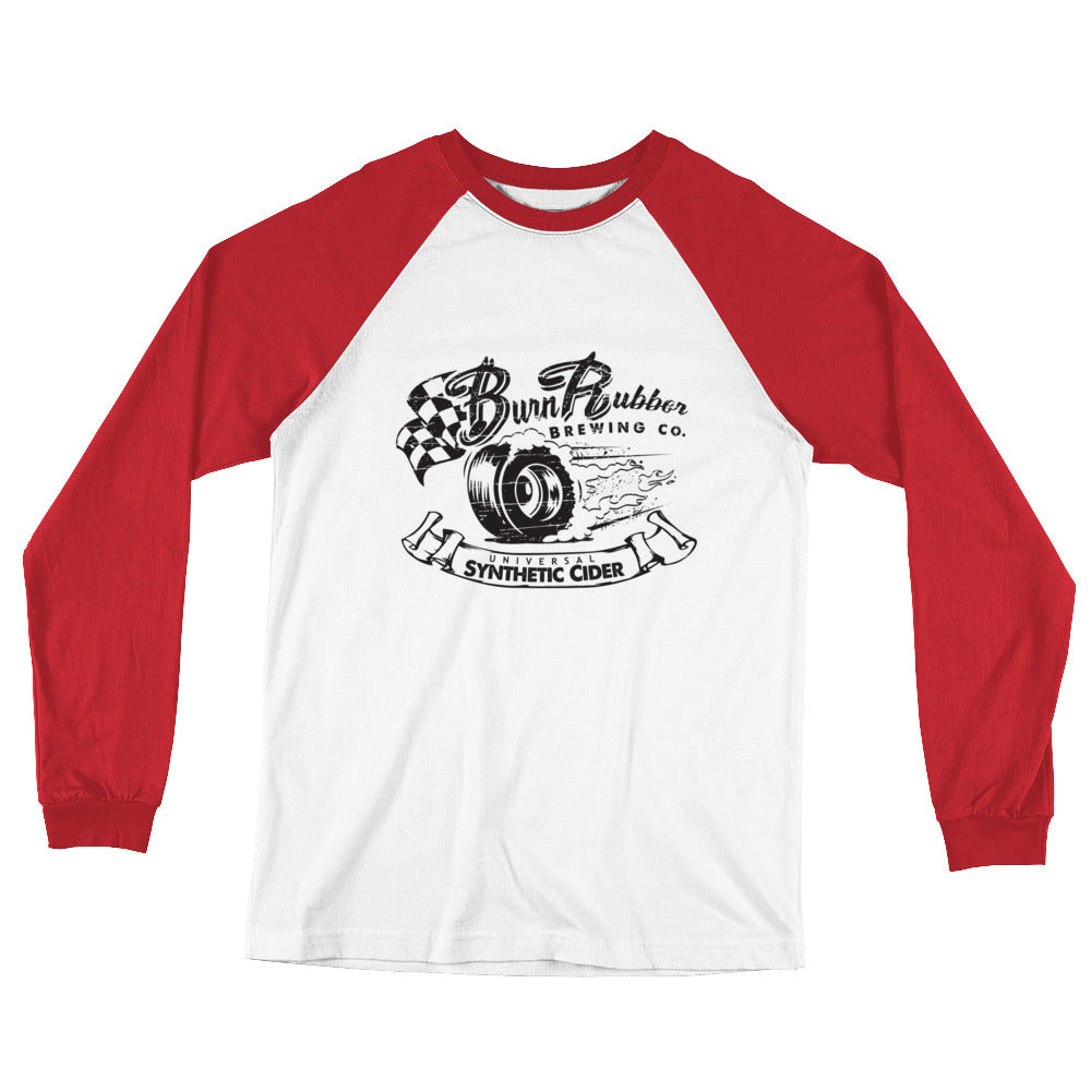 Long Sleeve Baseball T-Shirt, Burn Rubber Brewery Apparel