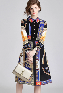 Versace Inspired European Dress