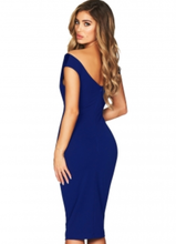 Royal Blue with velvet on the front Bodycon Dress