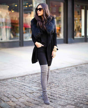 Gray High Knee Boots