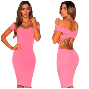 Steffani Pink Bodycon Dress