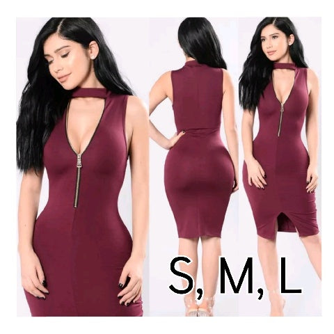 Babe's Burgundy Dress
