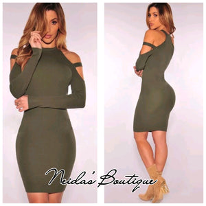 Stephanie Olive Dress