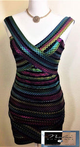 Delilah Multicolor Bandage Dress