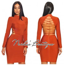Tania Orange Bandage Dress