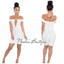 Gloria White Bandage Dress
