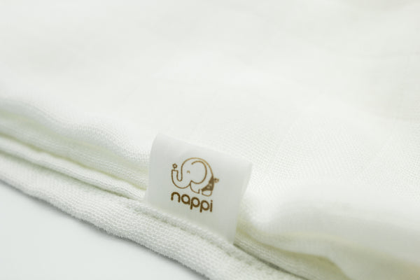 "NAPPI Bamboo Super Soft Swaddle Blanket 47"" - White - NAPPI Baby USA"