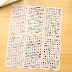 Kawaii Sticker Sheets (6 sheets)-Washi Whale