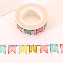 Load image into Gallery viewer, Flag Washi Tape Roll-Washi Whale