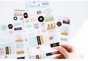 Winter Series Paper & Foil Planner Stickers-Washi Whale