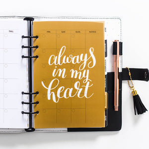 Always In my Heart Planner Dividers-Washi Whale