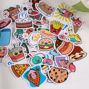 Kawaii Snack Planner Stickers (40 pieces)-Washi Whale