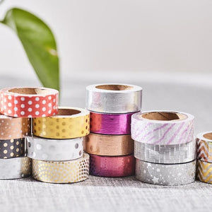 Foil & Glitter Lucky Dip (15 or 30 Rolls)-Washi Whale