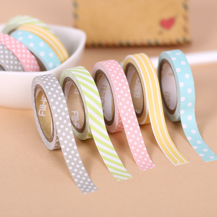 Pastel Patterns 5 Piece Set-Washi Whale