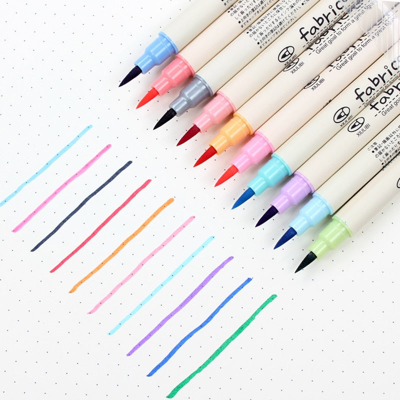 10 Fabricolor Watercolor Art Markers-Washi Whale