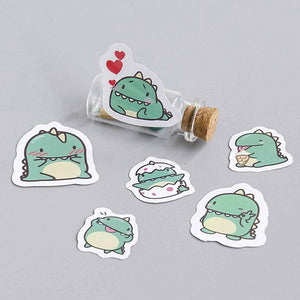 Little Green Dragon Stickers (40 pieces)-Washi Whale