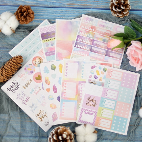 Lovedoki Weekly Planner Stickers-Washi Whale