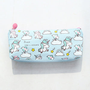 Kawaii Unicorn Pencil Case-Washi Whale