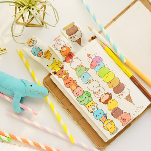 Cartoon Chibi Washi Tape-Washi Whale