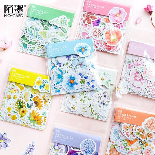 Floral Planner Stickers (45 pieces)-Washi Whale