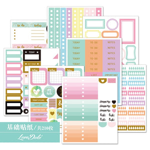 Lovedoki Pastel Weekly Planner Stickers-Washi Whale