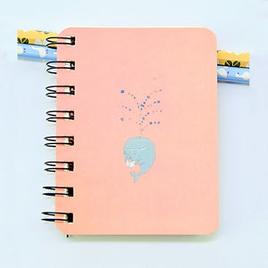 Whale Coil Notebook-Washi Whale