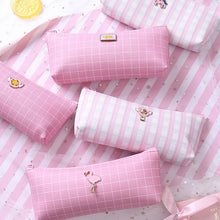Load image into Gallery viewer, Simple Kawaii Pink Pencil Case